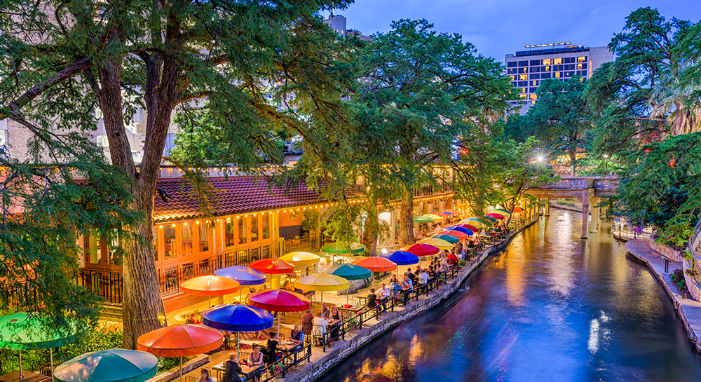 The San Antonio Riverwalk is one of San Antonio's most famous attractions.