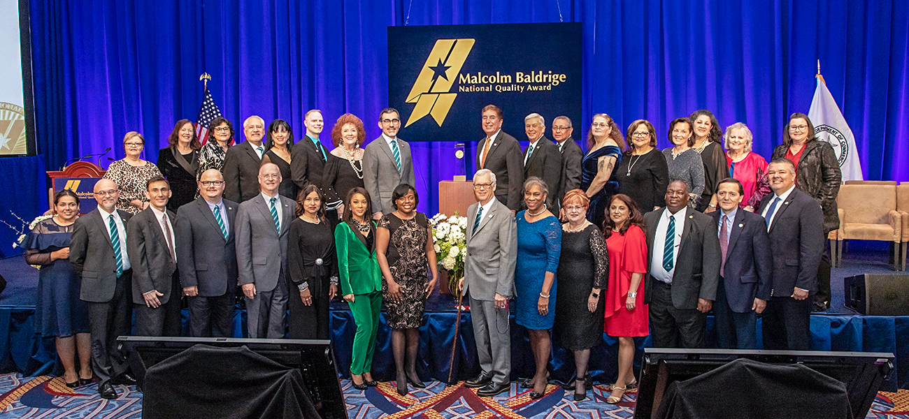 District Leadership, College Presidents, and important colleagues involved with Baldrige