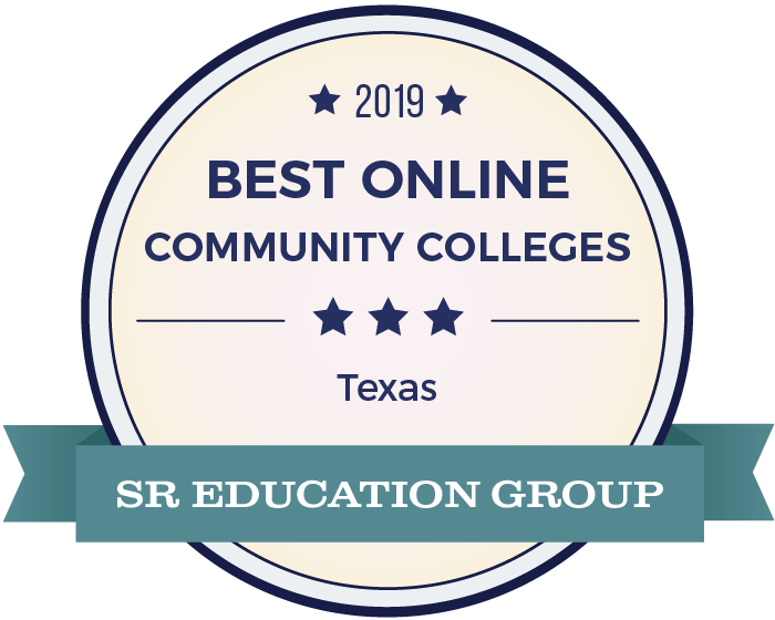 Best Online Community Colleges In Texas Badge