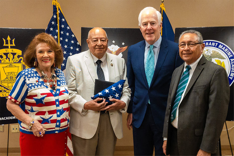 Board Members With Senator Cornyn