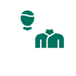 Icon for Male and Female student at a desk