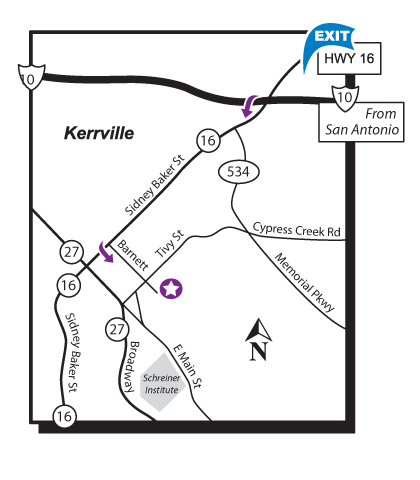 Map Kerrville Location